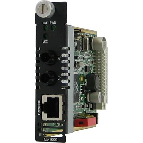 C-1000-M2ST2 Media Converter - 1 x Network (RJ-45) - 1 x ST Ports - 1000Base-LX 10/100/1000Base-T - Internal