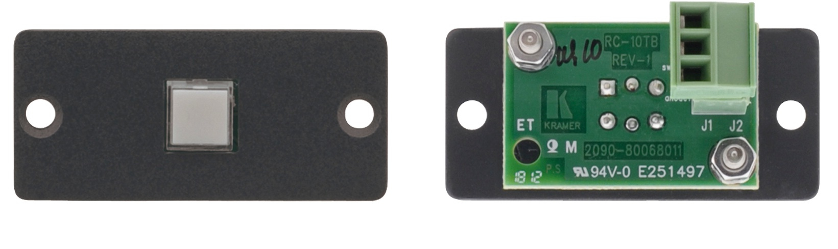 WALL PLATE INSERT -1-BUTTON CONTACT CLOSURE SWITCH