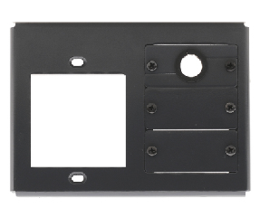 1 SINGLE POWER SOCKET SLOT 3 INSERT SLOTS INCLUDES 2 BLANK 1 CABLE PASS-THROUGH