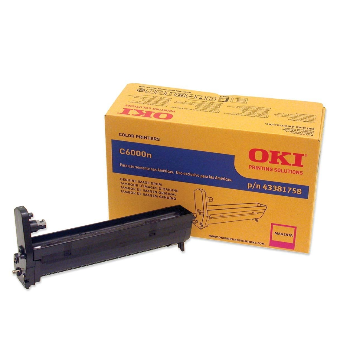 Oki Magenta Image Drum For C6000n and C6000dn Printers - 20000 Page - 1 Pack