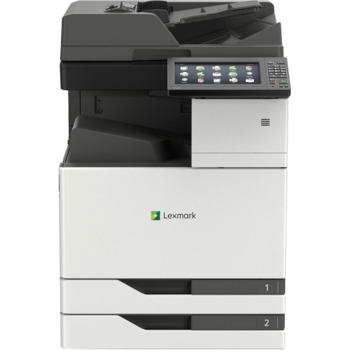 CX921DE - Multifunction printer - color - laser - 11.7 in x 17 in (original) - Tabloid Extra (12 in x 18 in)  SRA3 (12.6 in x 17.7 in) (media) - up to 35 ppm (copying) - up to 35 ppm (printing) - 1150 sheets - 33.6 Kbps - USB 2.0 Gigabit LAN USB 2.0 ho