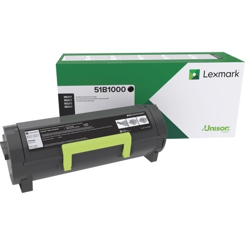 MX317 - Black - original - toner cartridge LCCP LRP - for Lexmark MS317dn MS417dn MS517dn MS617dn MX317dn MX417de MX517de MX617de