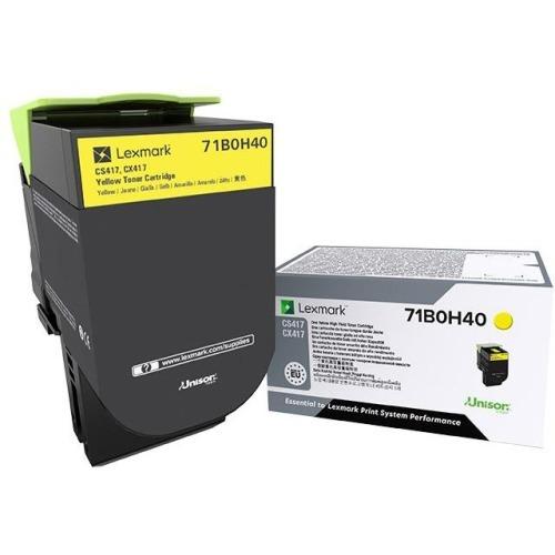 X417 - High Yield - yellow - original - toner cartridge LCCP - for Lexmark CS417dn CS517de CX417de CX517de