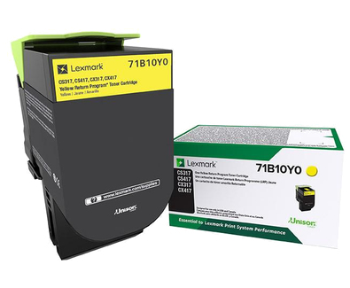 Yellow - original - toner cartridge LRP - for Lexmark CS317dn CS417dn CS517de CX317dn CX417de CX517de
