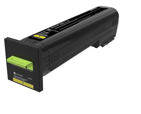 Extra High Yield - yellow - original - toner cartridge LCCP LRP - for Lexmark CS820de CS820dte CS820dtfe