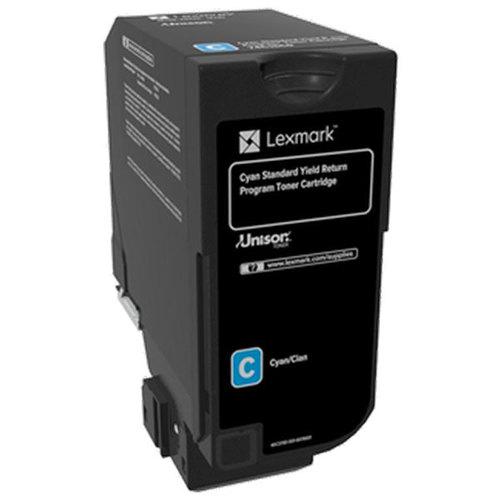 CS720 CS725 CX725 Cyan Return Program Toner Cartridge for US Government (7000 Yield) (TAA Compliant Version of 74C1SC0)
