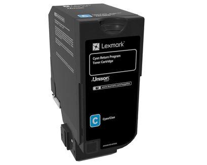 Cyan - original - toner cartridge LCCP LRP - for Lexmark CS720de CS720dte CS725de CS725dte CX725de CX725dhe CX725dthe