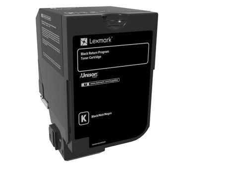 Black - original - toner cartridge LCCP LRP - for Lexmark CS720de CS720dte CS725de CS725dte CX725de CX725dhe CX725dthe