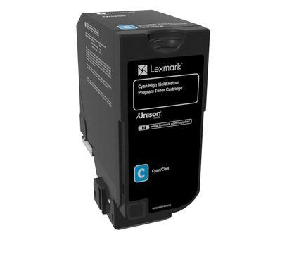 High Yield - cyan - original - toner cartridge LCCP LRP - for Lexmark CX725de CX725dhe CX725dthe