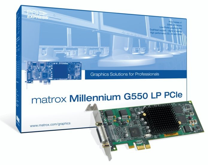 MILLENNIUM G550 LOW-PROFILE - GRAPHICS ADAPTER - MGA G550 - PCI EXPRESS X
