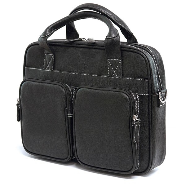 SUMO The Tech Carrying Case (Briefcase) for 15 inch Notebook Tablet Accessories Books File Paper Sheet Magazine iPad Cellular Phone Flash Drive Memory Card ... - Black - Bump Resistant Interior Scratch Resistant Interior - Vegan Leather - Shou