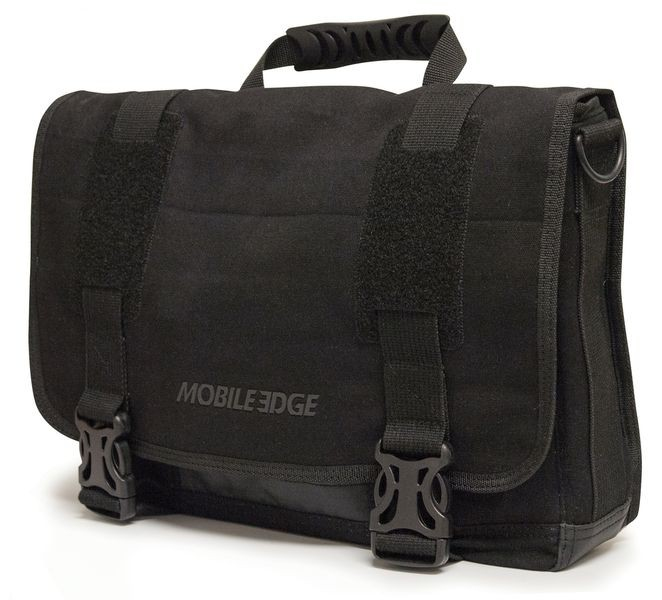 Edge ECO Carrying Case (Messenger) for 15 inch Notebook MacBook Pro Tablet iPad Ultrabook - Black - Cotton Canvas - Shoulder Strap