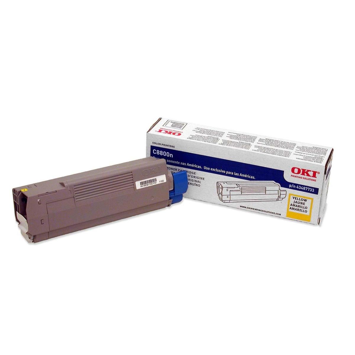 OKI - Yellow - original - toner cartridge - for C8800cdtn 8800dn 8800dtn 8800hn 8800n
