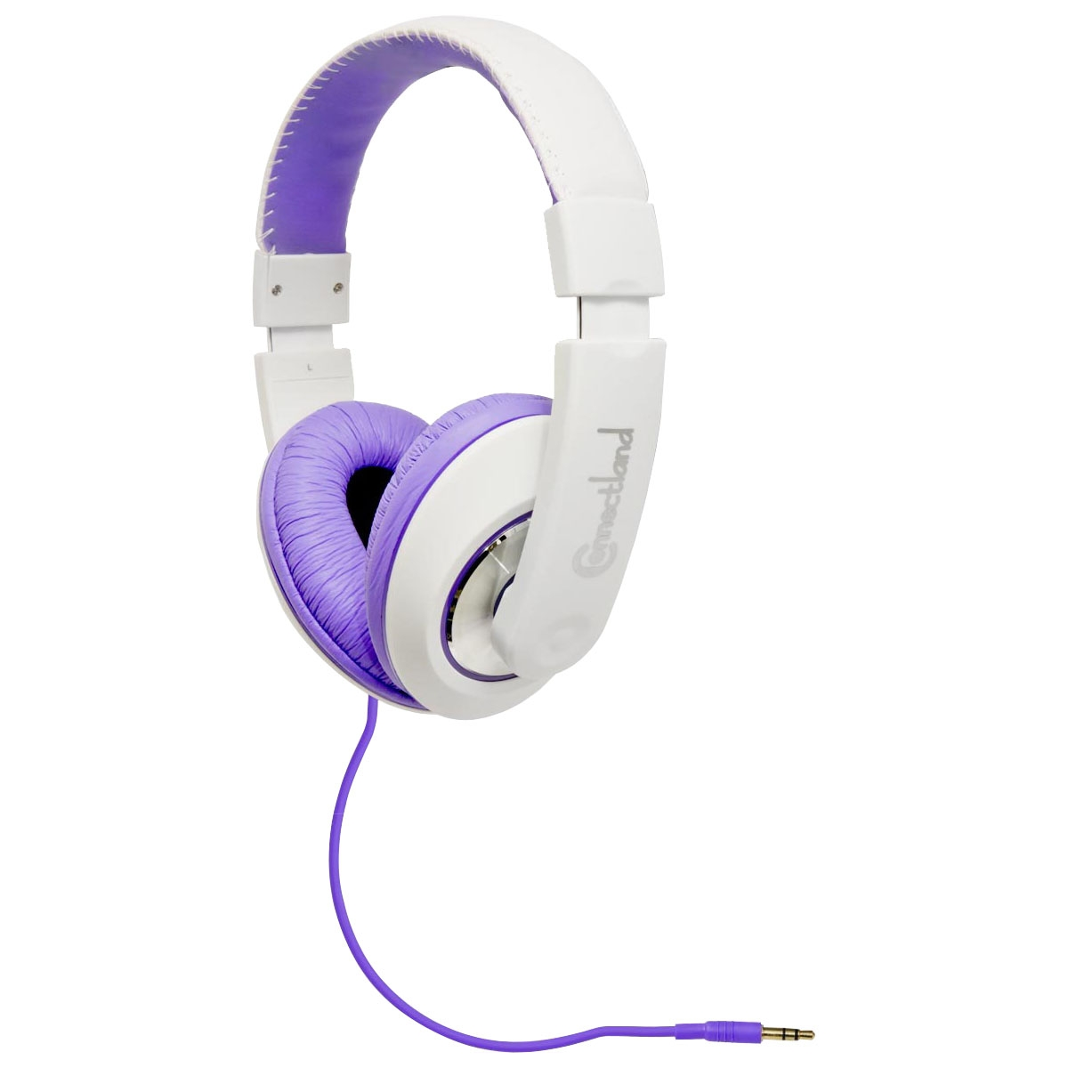 Multimedia Headset - Stereo - White Purple - Mini-phone - Wired - 32 Ohm - 20 Hz - 20 kHz - Over-the-head - Binaural - Ear-cup - 4.83 ft Cable