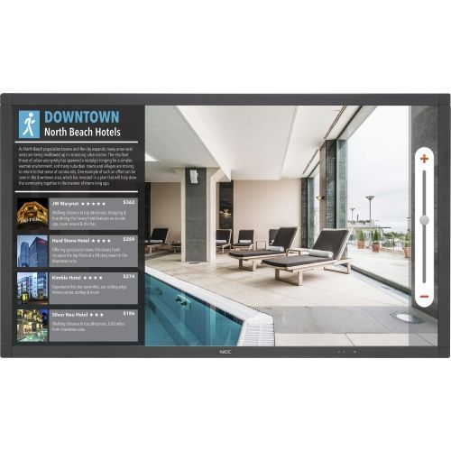 40 inch Class (40 inch viewable) - V Series LED display - interactive digital signage - 1080p (Full HD) 1920 x 1080 - edge-lit