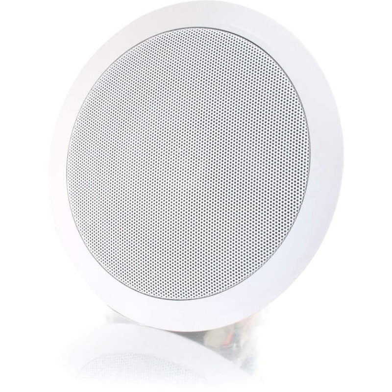 Cables To Go 5in Ceiling Speaker 70v - White (Each) - 100 Hz to 20 kHz - 8 Ohm - Ceiling Mountable