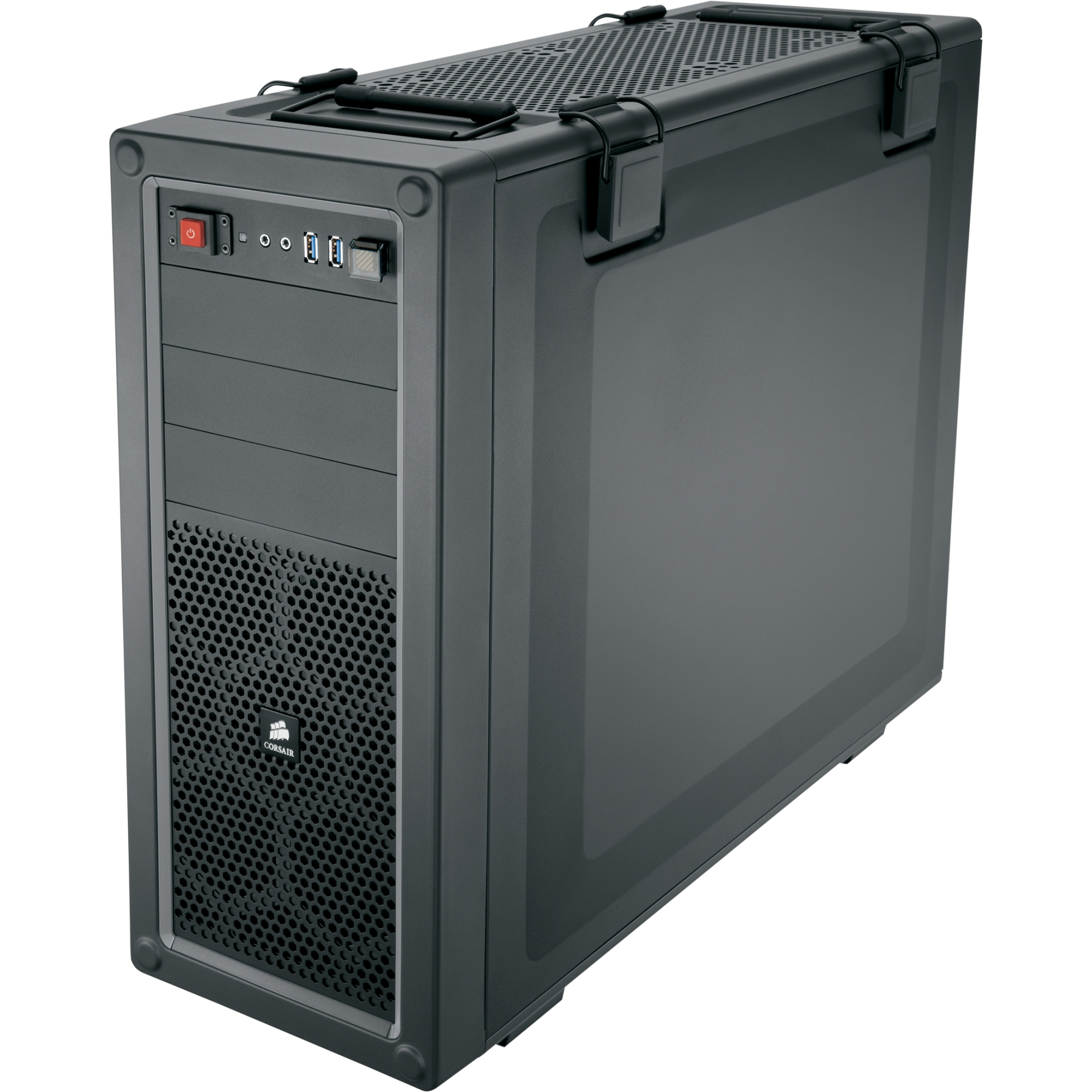 Vengeance C70 Mid-Tower Gaming Case - Gunmetal Black - Mid-tower - Gunmetal Black - Steel - 9 x Bay - 3 x Fan(s) Installed - ATX Micro ATX Motherboard Supported