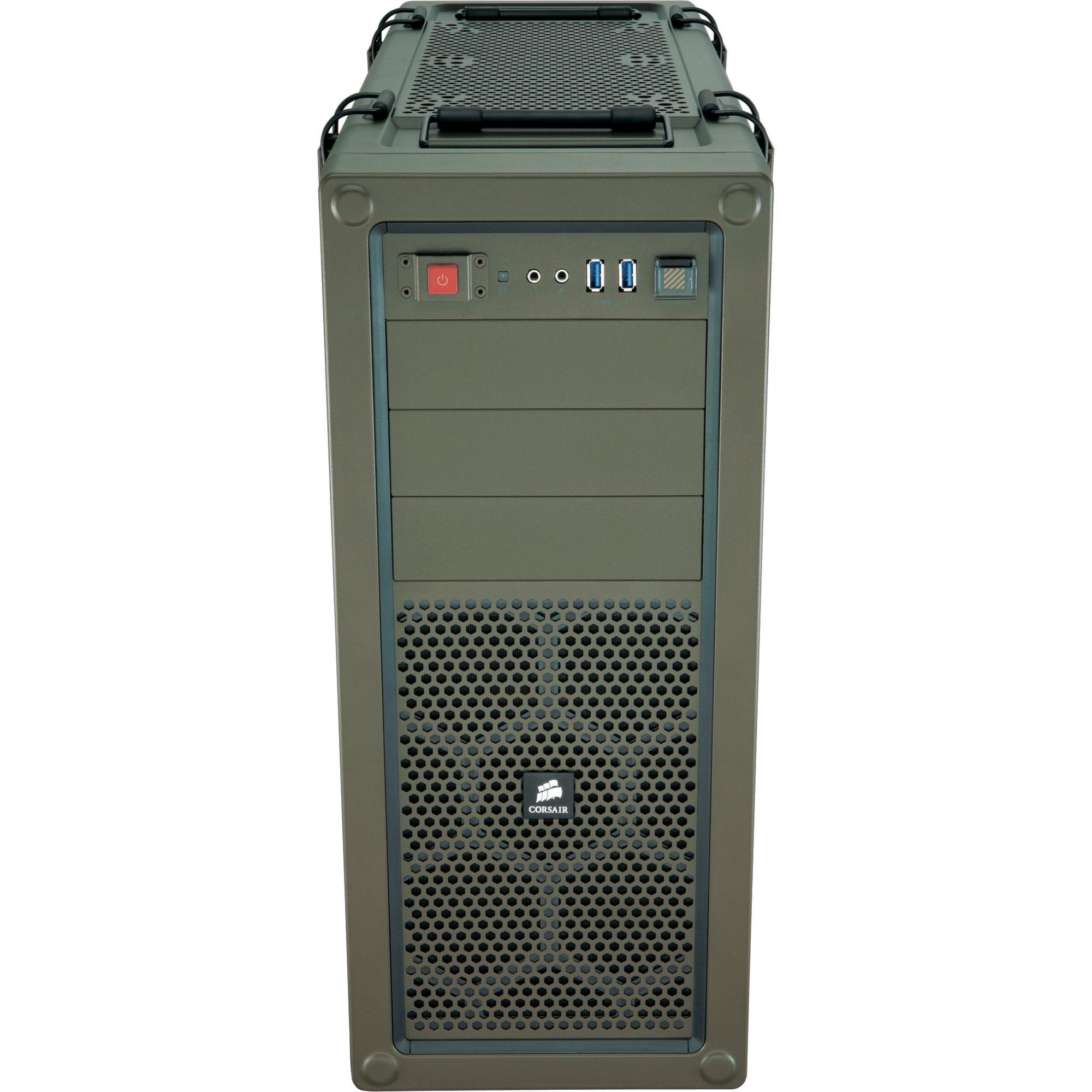 Vengeance C70 Mid-Tower Gaming Case - Military Green - Mid-tower - Military Green - Steel - 9 x Bay - 3 x Fan(s) Installed - ATX Micro ATX Motherboard Supported