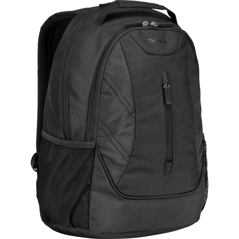 Ascend Carrying Case (Backpack) for 16 inch Notebook - Black - Weather Resistant - Polyester - Handle Shoulder Strap