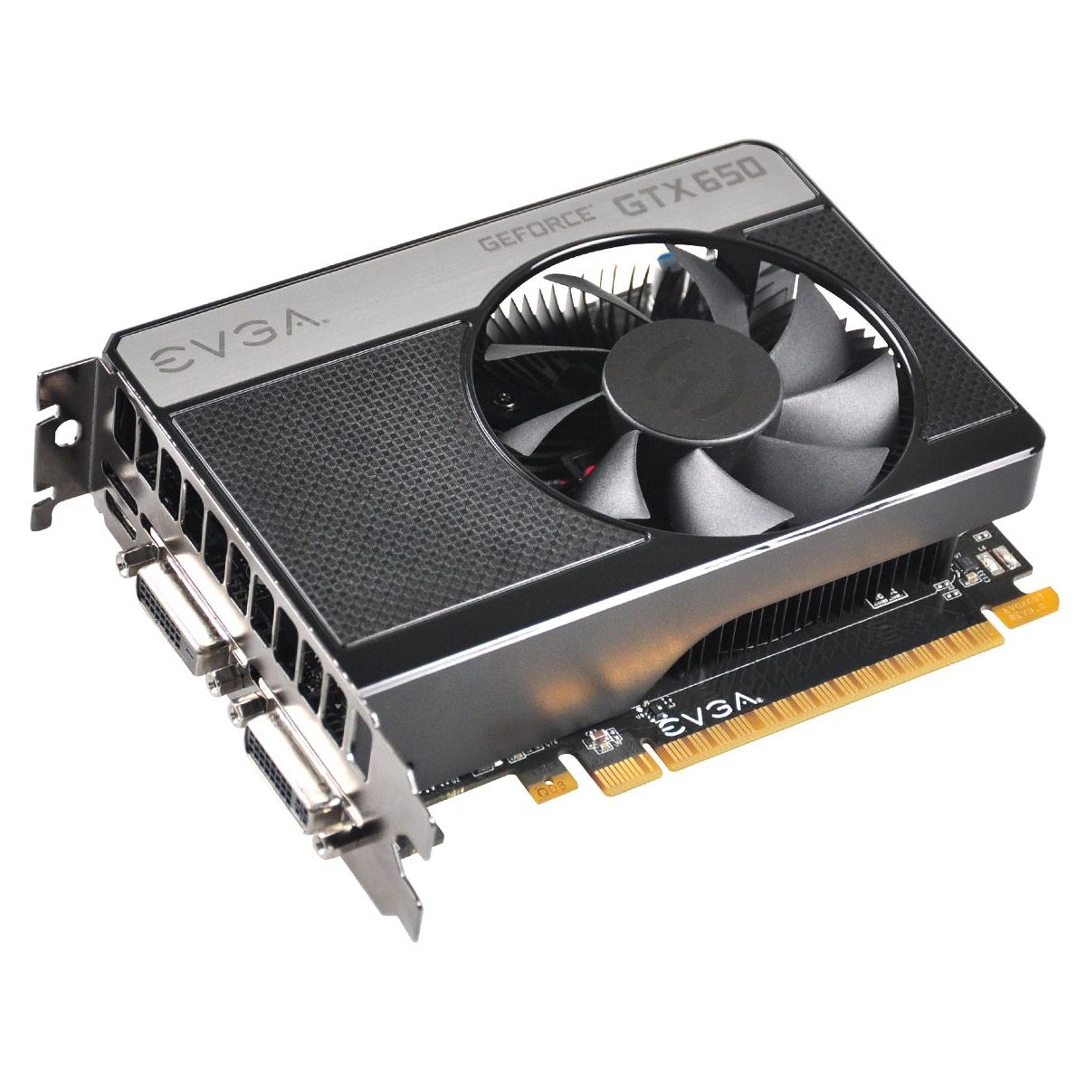 GeForce GTX 650 Graphic Card - 1202 MHz Core - 1 GB GDDR5 SDRAM - PCI Express 3.0 x16 - 5000 MHz Memory Clock - 2560 x 1600 - Fan Cooler - DirectX 11.0 DirectCompute 5.0 OpenGL 4.2 OpenCL - HDMI - DVI