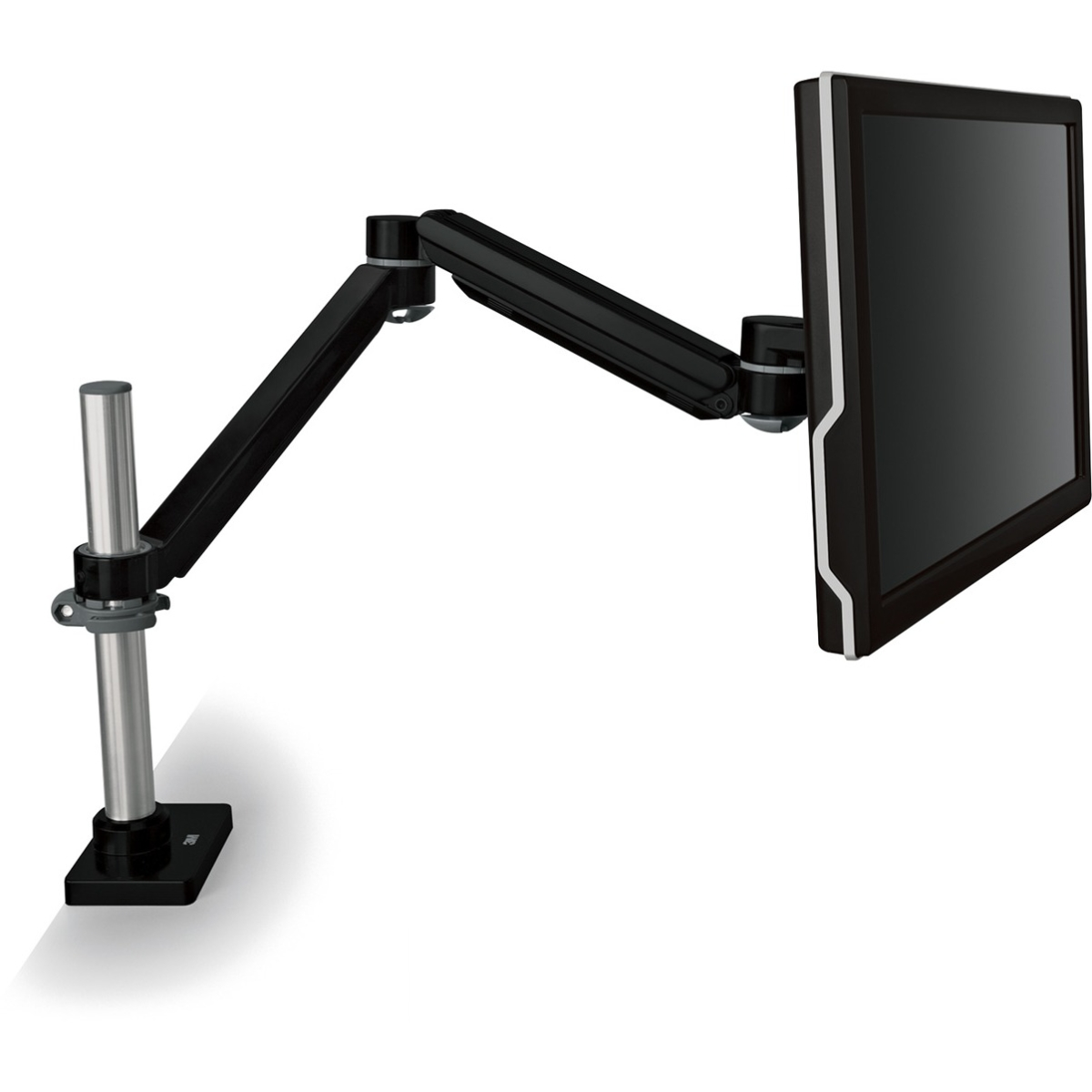 Mounting Arm for Flat Panel Display - 20 lb Load Capacity - Black