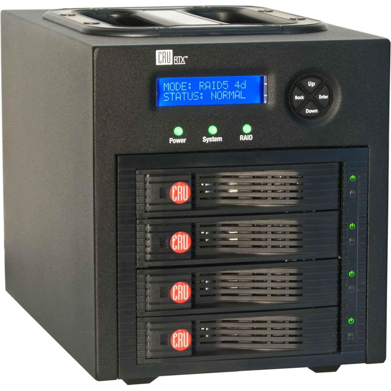 RTX RTX430-3QR DAS Array - 4 x HDD Supported - 16 TB Supported HDD Capacity - 4 x HDD Installed - 8 TB Installed HDD Capacity - 4 x Total Bays - Serial ATA - FireWire/i.LINK 800 eSATA USB 3.0