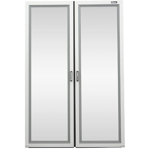 Net-Contain Dual Sliding Door - Rack cooling system aisle containment sliding door - silver