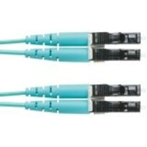 Opti-Core - Patch cable - LC multi-mode (M) to LC multi-mode (M) - 3.3 ft - fiber optic - 50 / 125 micron - OM3 - riser - aqua
