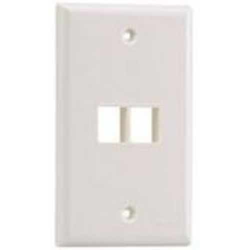 NetKey Flush Mount Screw-On Faceplates - Faceplate - off white - 1-gang - 2 ports