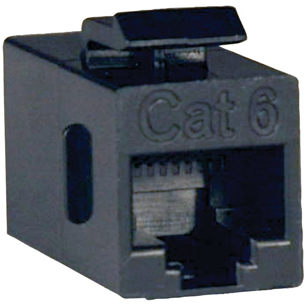 Cat6 Straight Through Modular In-line Snap-in Coupler RJ45 F/F - Modular insert - 2 ports