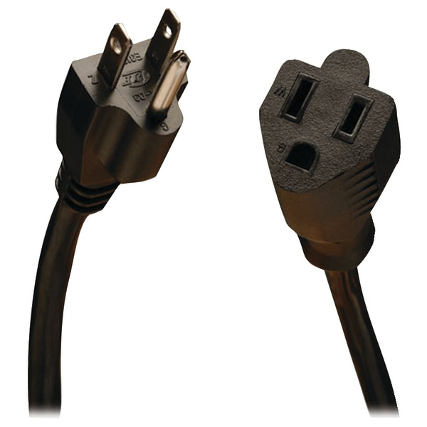 15ft Power Cord Extension Cable 5-15P to 5-15R 10A 18AWG 15 feet - Power extension cable - NEMA 5-15 (F) to NEMA 5-15 (M) - AC 110 V - 15 ft - black