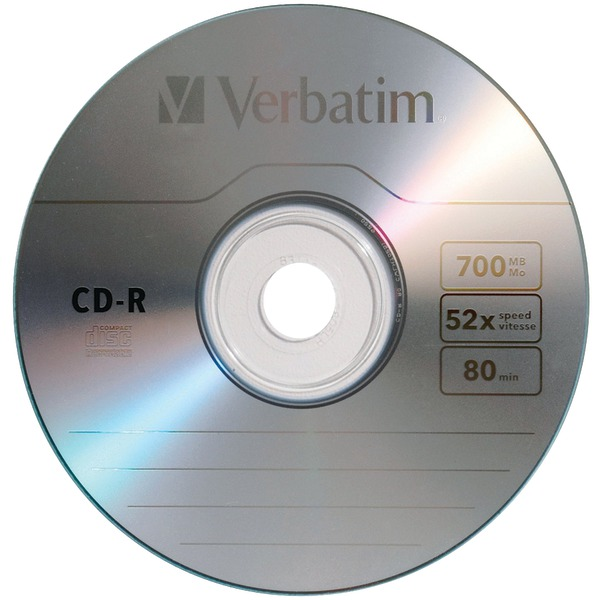 CD-R 700MB 52X with Branded Surface - 10pk Box - 120mm - 1.33 Hour Maximum Recording Time