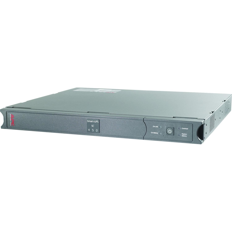 Smart-UPS SC 450VA - UPS (rack-mountable) - AC 120 V - 280 Watt - 450 VA - RS-232 - output connectors: 4 - 1U - gray