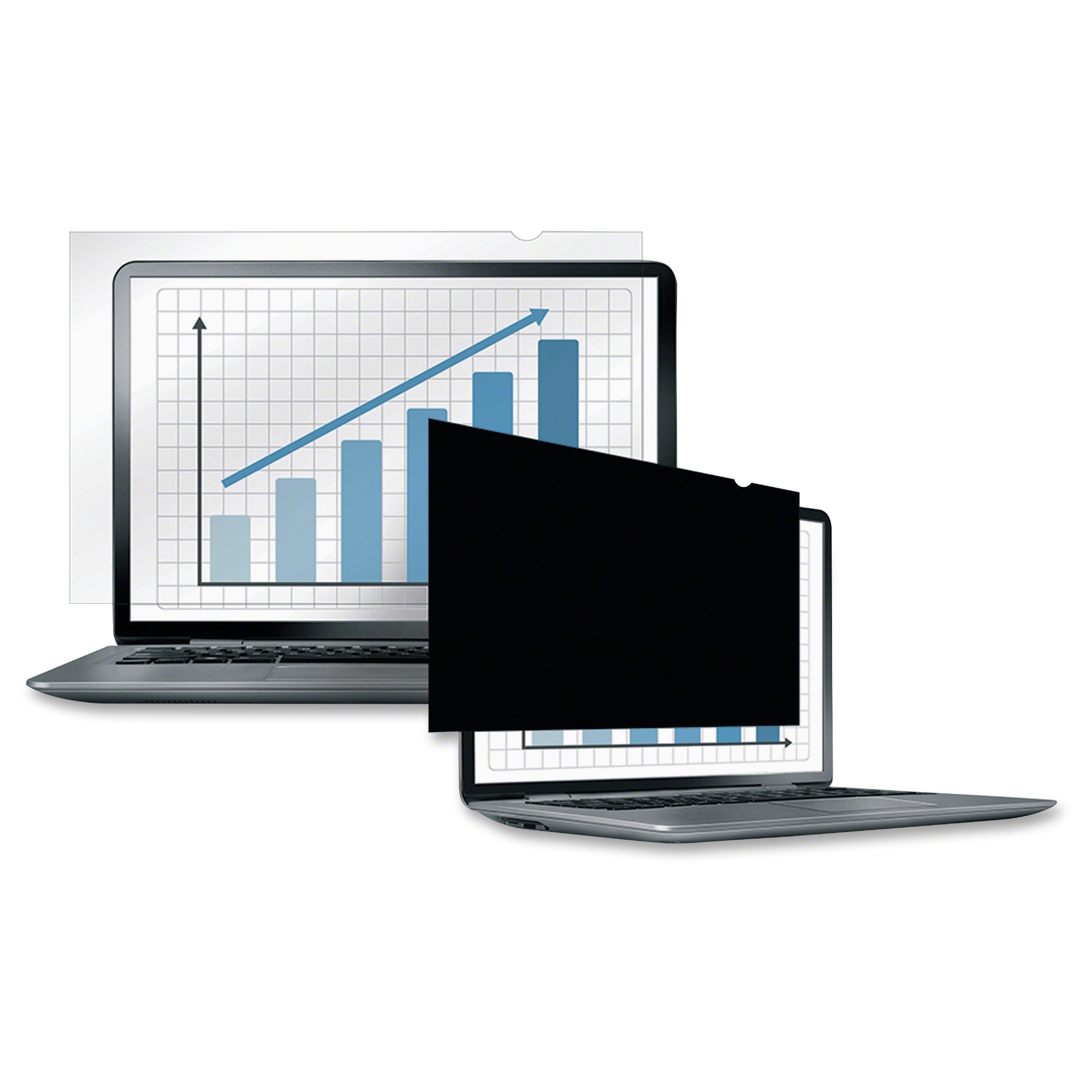 Laptop/Flat Panel Privacy Filter - 17.3 inch W - TAA Compliant Black - 17.3 inch LCD Notebook Monitor