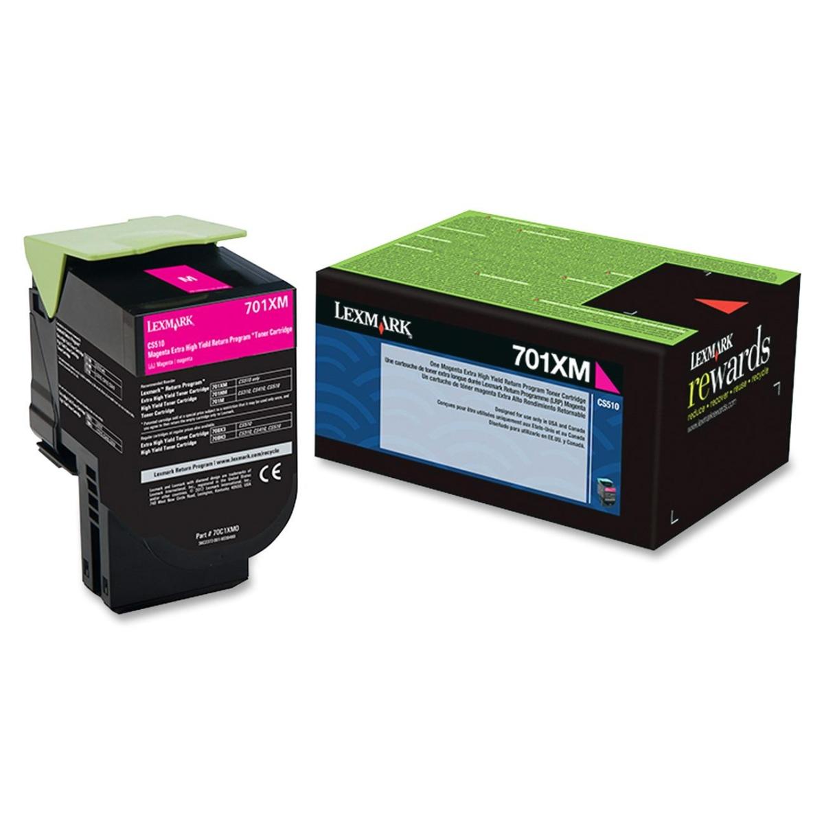 701XM Magenta Extra High Yield Return Program Toner Cartridge - Magenta - Laser - 4000 Page - 1 Each - OEM
