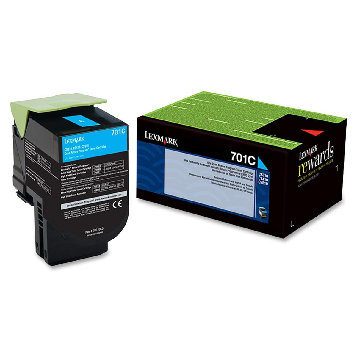 701C - Cyan - original - toner cartridge LCCP LRP - for Lexmark CS310dn CS310n CS410dn CS410dtn CS410n CS510de CS510dte