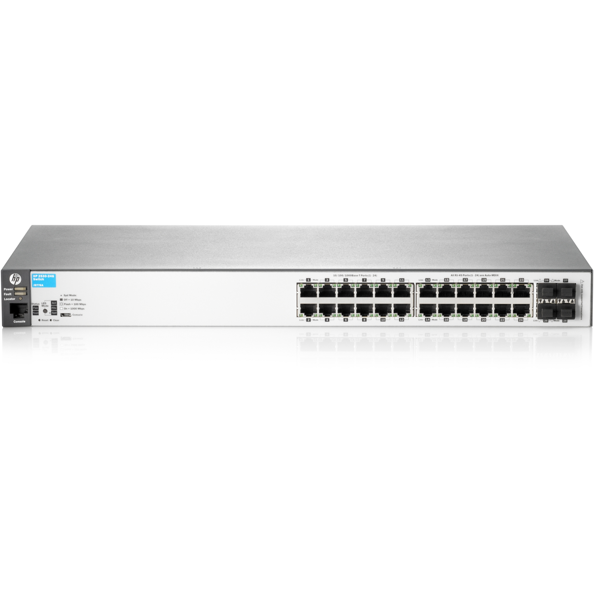 2530-24G Switch - 24 Ports - Manageable - 4 x Expansion Slots - 10/100/1000Base-T - 4 x SFP Slots - 2 Layer Supported - 1U High - Desktop Rack-mountable Wall MountableLifetime Limited Warranty