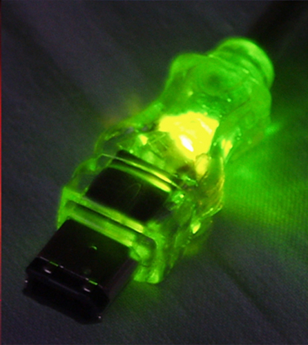 FireWire/i.Link 6Pin to 4Pin A/V Translucent Cable with LEDs - FireWire for Camcorder - 6 ft - 1 x Male FireWire - 1 x Male FireWire - Shielding - Green Translucent