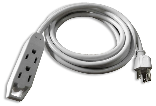 3OUT 3-PRONG 25FT POWER EXTENSION CORD