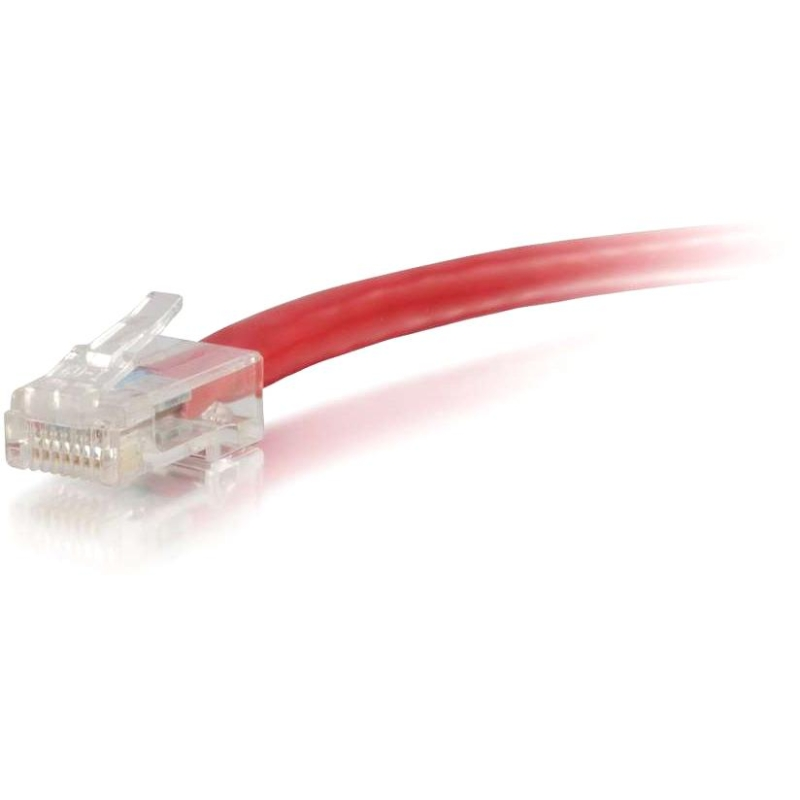 12ft Cat6 Non-Booted Unshielded (UTP) Ethernet Network Patch Cable - Red - Patch cable - RJ-45 (M) to RJ-45 (M) - 12 ft - UTP - CAT 6 - red