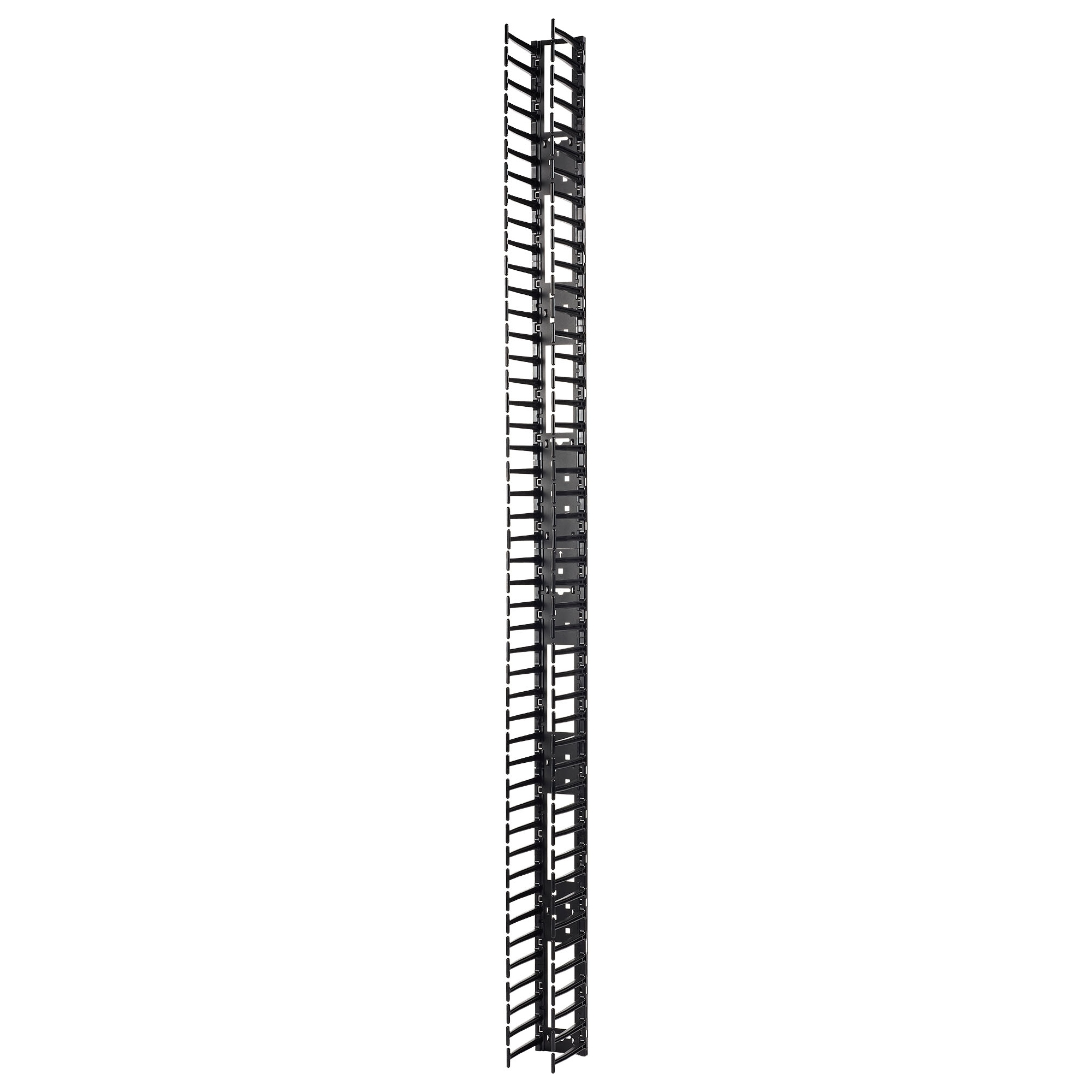 Vertical Cable Manager for NetShelter SX 750mm Wide 48U (Qty 2) - Cable Pass-through - Black - 2 Pack - 48U Rack Height