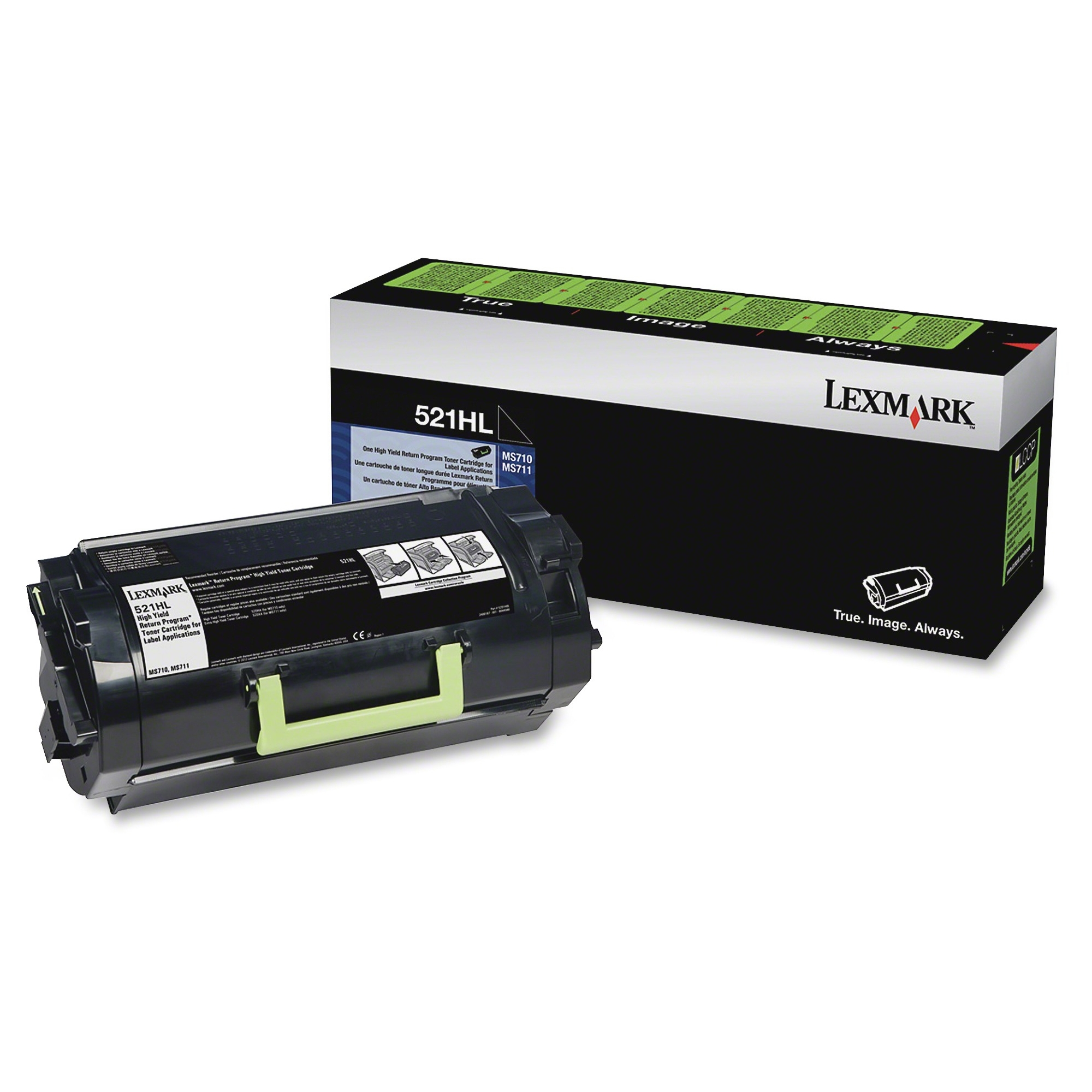 521HL MS710 MS711 High Yield Return Program Toner Cartridge for Label Applications (25000 Yield)