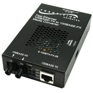 Networks Fast Ethernet Stand-Alone Media Converter - 1 x RJ-45  1 x SC Duplex - 100Base-TX 100Base-FX
