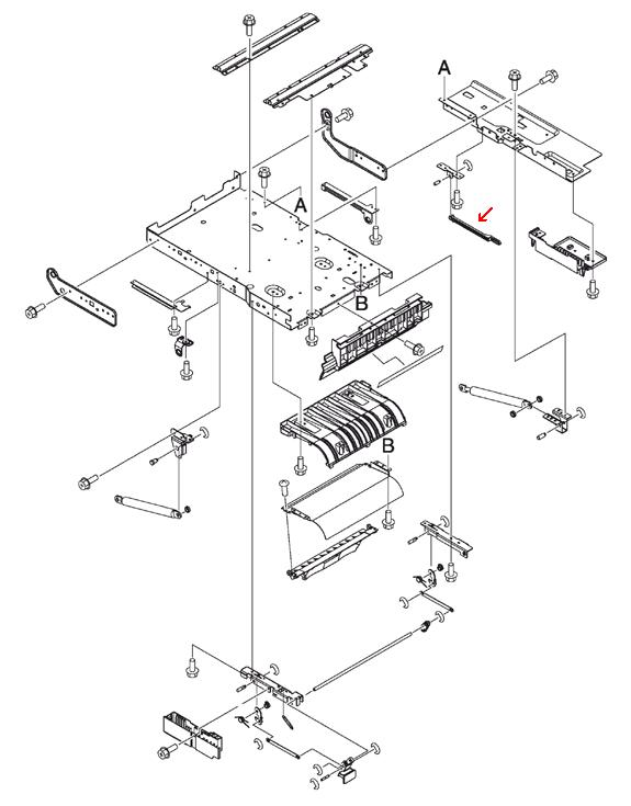 Link rod - Connects to the toner cartridge drive gear mechanism