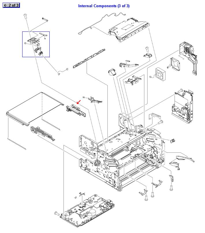 Right side duplexer assembly guide - Guide for duplexer assembly to slide in and out of printer