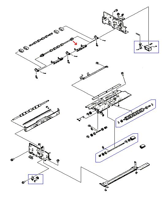 LaserJet 9000 9040 9050 M9040 M9050 Rear Flapper Arm