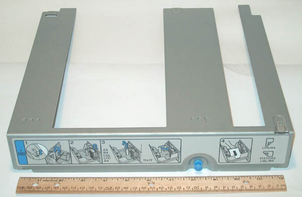 Front paper reference plate - Front paper limit plate for 2 000-sheet feeder