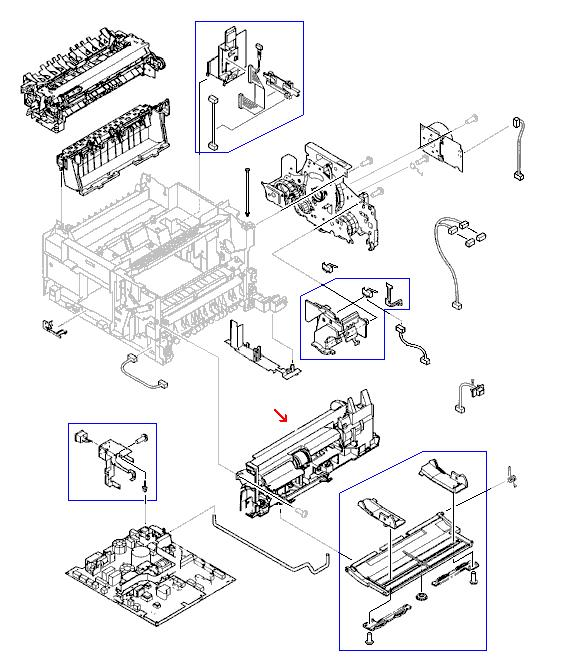 LaserJet 4100 4100 MFP Tray 1 Pickup Assembly