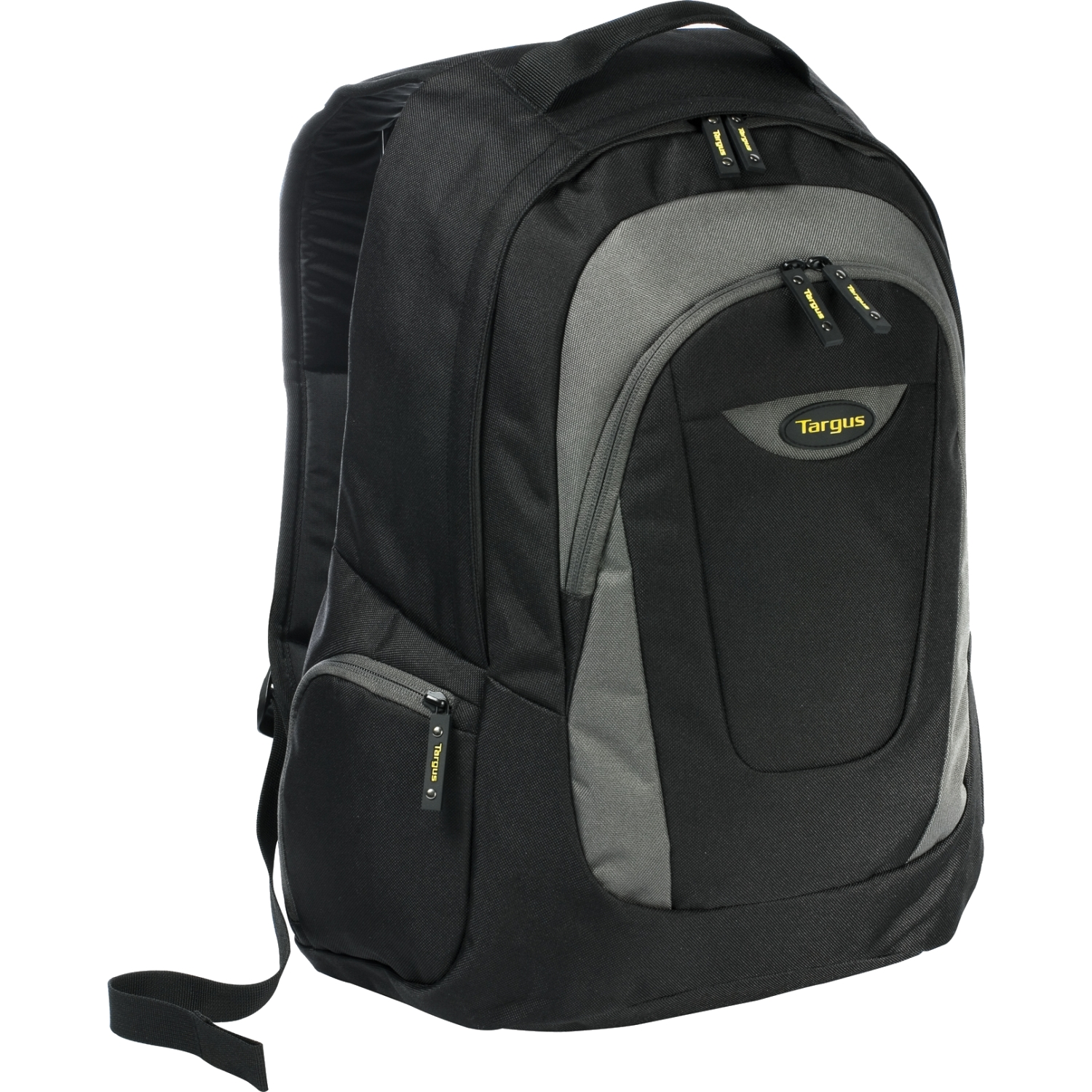 Trek Carrying Case (Backpack) for 16 inch Notebook - Black Yellow White Accent - Polyester - Shoulder Strap