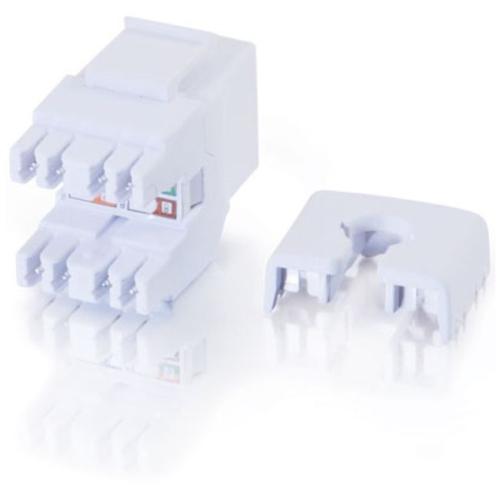 180 Degree Cat6 RJ45 UTP Keystone Jack - White - Modular insert - RJ-45 - white